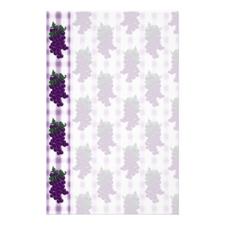 Grapes n Gingham Stationery