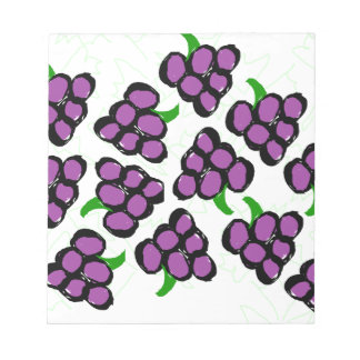 grapes notepad