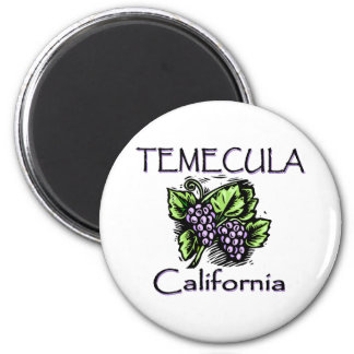 Grapes of Temecula 2 Inch Round Magnet
