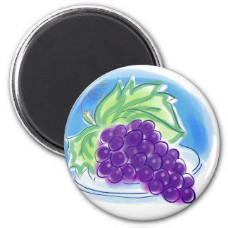 Grapes on a Plate 2 Inch Round Magnet