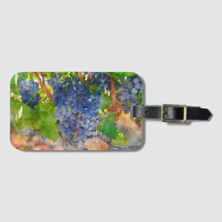Grapes on the Vine in Napa Valley California Luggage Tag