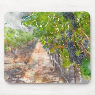 Grapes on the Vine in Napa Valley California Mouse Pad