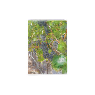 Grapes on the Vine in Napa Valley California Passport Holder