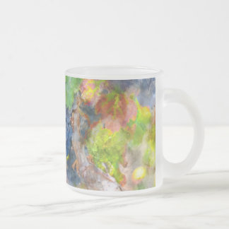 Grapes on the Vine in the Autumn Season Frosted Glass Coffee Mug
