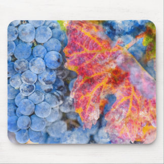 Grapes on the Vine in the Autumn Season Mouse Pad