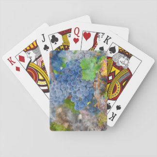 Grapes on the Vine in the Autumn Season Poker Deck