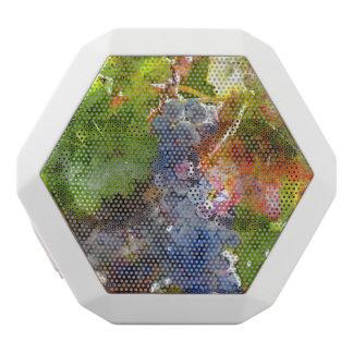 Grapes on the Vine in the Autumn Season White Bluetooth Speaker
