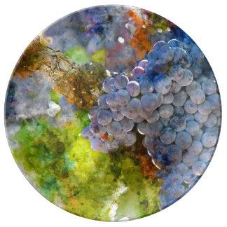 Grapes on the Vine Porcelain Plates