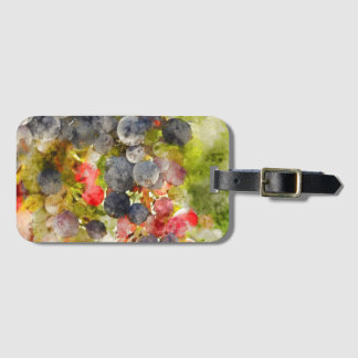 Grapes on the Vine ready to make Wine Luggage Tag