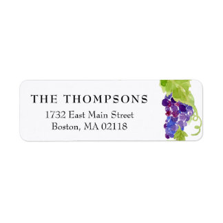 Grapes on the Vine Wedding Return Address Labels