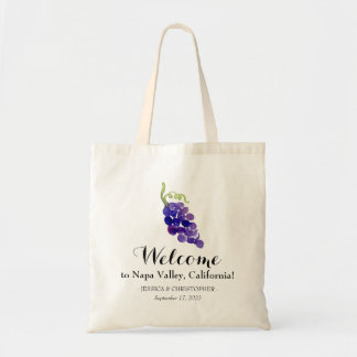 Grapes on the Vine Wedding Welcome Tote Bag