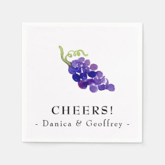 Grapes on the Vine Wine Party Napkins Disposable Napkins