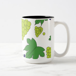 Grapes - Purple and Green Two-Tone Coffee Mug