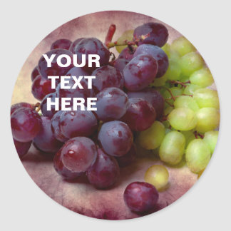 Grapes Red And Green Classic Round Sticker