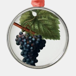 Grapes Silver-Colored Round Ornament