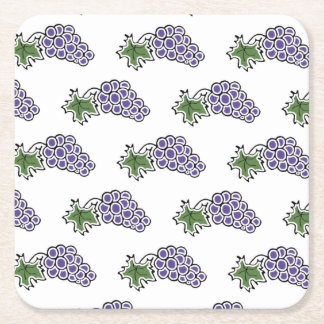Grapes Square Paper Coaster