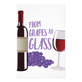 Grapes To Glass Custom Stationery