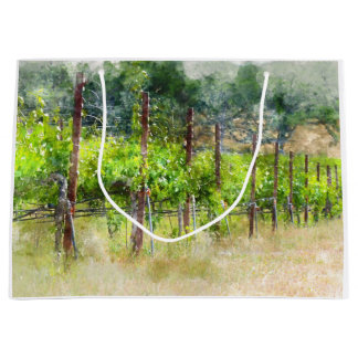 Grapes Vines in Spring in Napa Valley California Large Gift Bag