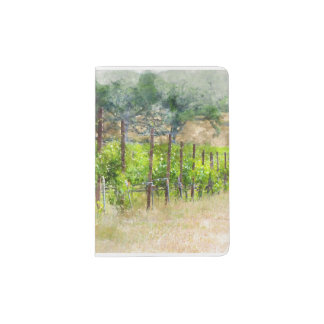 Grapes Vines in Spring in Napa Valley California Passport Holder