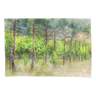Grapes Vines in Spring in Napa Valley California Pillowcase