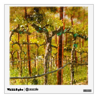 Grapes Vines in Vineyard during Spring Wall Decal