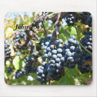 Grapes Vineyard John 15:5 Mousepad