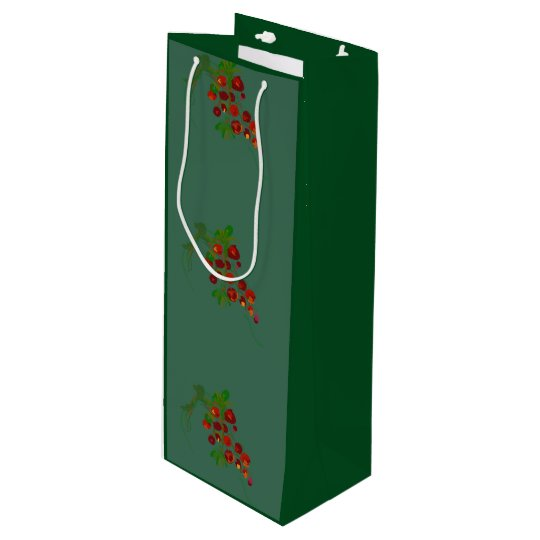 Grapes wine gift bag