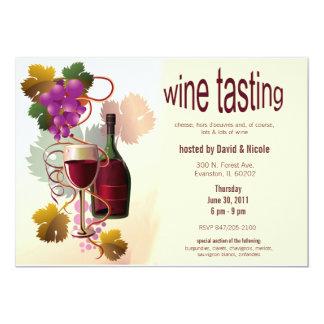 grapes wine tasting invitation