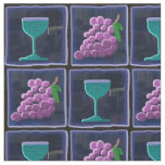 Grapes & Wine Tiled Cotton Fabric