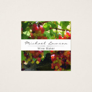 Grapes Winery Wine Maker Business Card