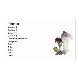 GrapesWinePillar, Name, Address 1, Address 2, C... Pack Of Standard Business Cards