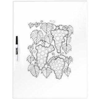 Grapevine Adult Coloring Dry Erase Boards