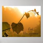 Grapevine & Dewdrops at Sunrise-Inspirational Poster