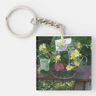Grapevine & Flowers Keychain