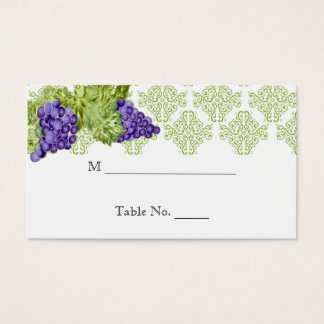 Grapevine Garden Wedding Place Cards