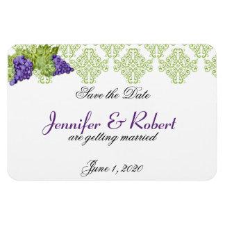 Grapevine Garden Wedding Save the Date Rectangular Photo Magnet