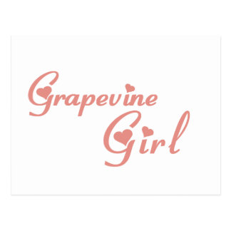 Grapevine Girl tee shirts Postcard