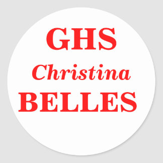 Grapevine High School, GHS, BELLES Classic Round Sticker