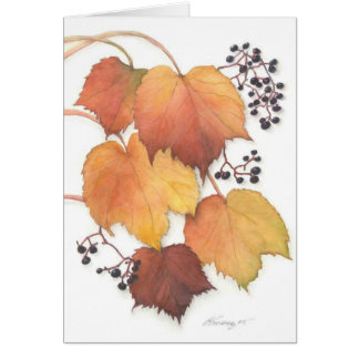 Grapevine in Autumn Card
