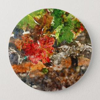 Grapevine in the Autumn Season 4 Inch Round Button