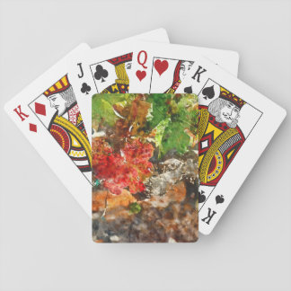 Grapevine in the Autumn Season Playing Cards