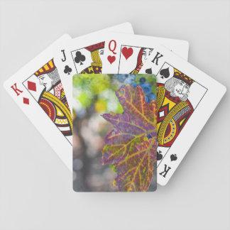 Grapevine in the Autumn Season Poker Deck
