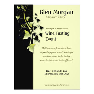 Grapevine Wine Tasting Event Flyer