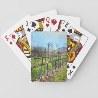 Grapevines in a Row in Napa Valley California Poker Deck