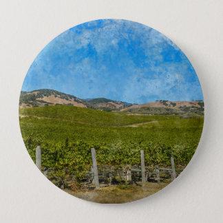Grapevines in Napa Valley California 4 Inch Round Button