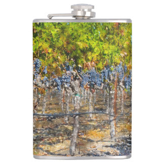 Grapevines in Napa Valley California Flasks