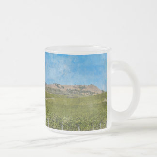 Grapevines in Napa Valley California Frosted Glass Coffee Mug