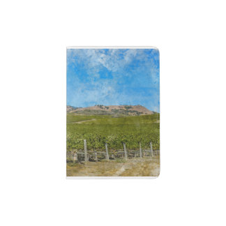 Grapevines in Napa Valley California Passport Holder
