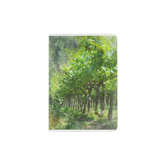 Grapevines in Spring in Napa Valley California Passport Holder