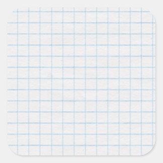 Graph Paper Square Sticker